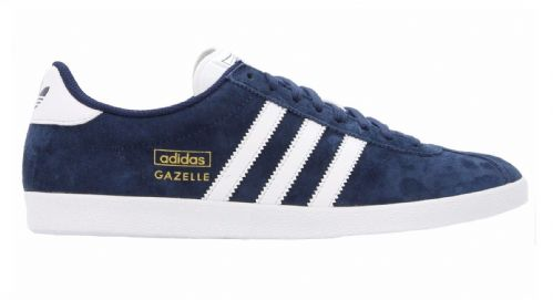 Adidas Originals Men's Gazelle OG Vintage Navy Suede Leather Casual Shoes Trainers
